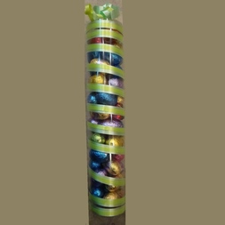 Koker met gemengde paaseitjes 25 cm