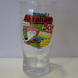 Drinkglas 50 jaar Abraham