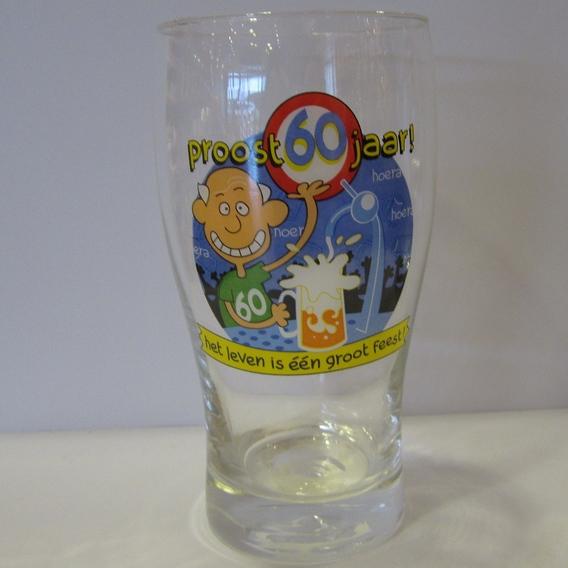 Drinkglas 60 jaar