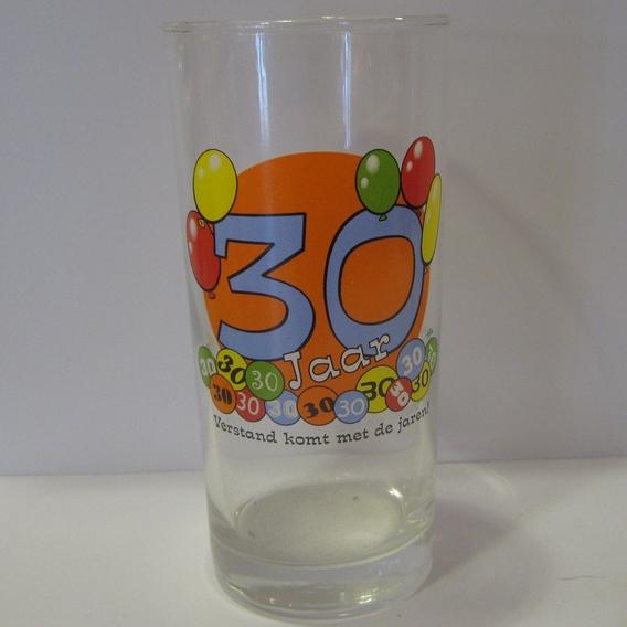 Feestglas 30 jaar