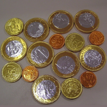 Chocolade munten gemengd