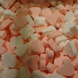 Geboorte hartjes roze-wit kilo
