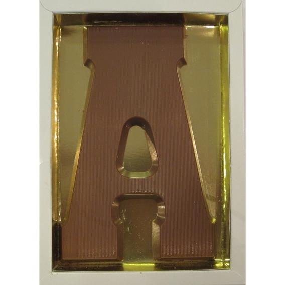 Chocoladeletter A melk 90 gram doos
