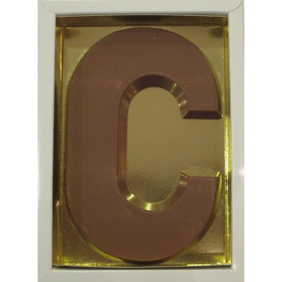 Chocoladeletter C melk 90 gram doos