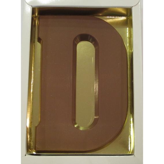 Chocoladeletter D melk 90 gram doos