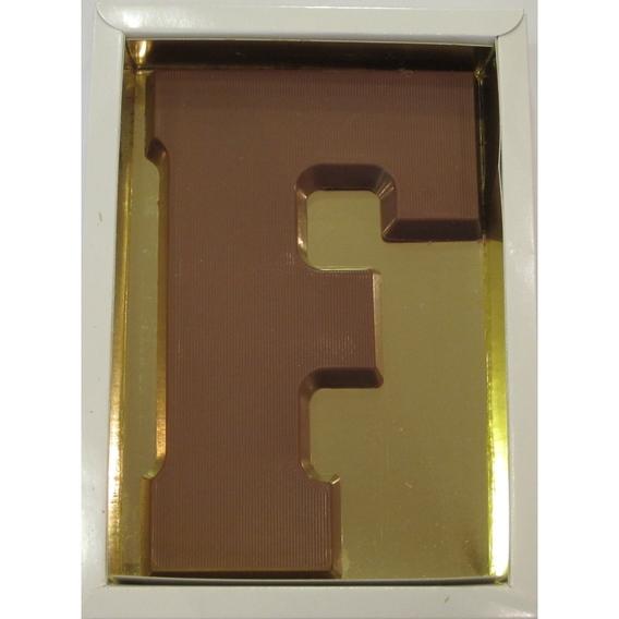 Chocoladeletter F melk 90 gram doos