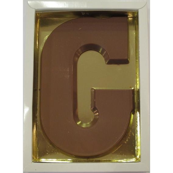 Chocoladeletter G melk 90 gram doos