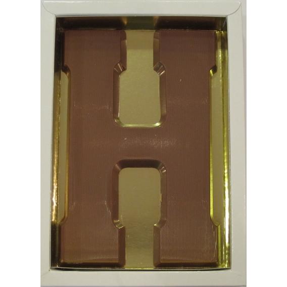 Chocoladeletter H melk 90 gram doos