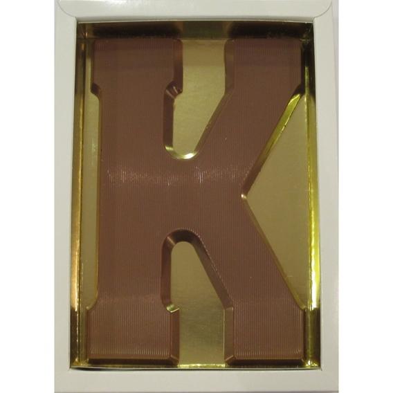 Chocoladeletter K melk 90 gram doos