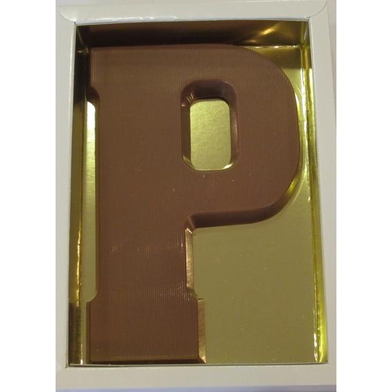 Chocoladeletter P melk 90 gram doos