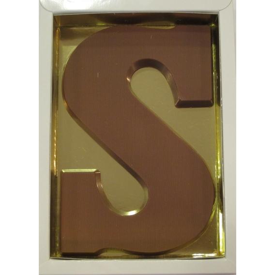 Chocoladeletter S melk 90 gram doos