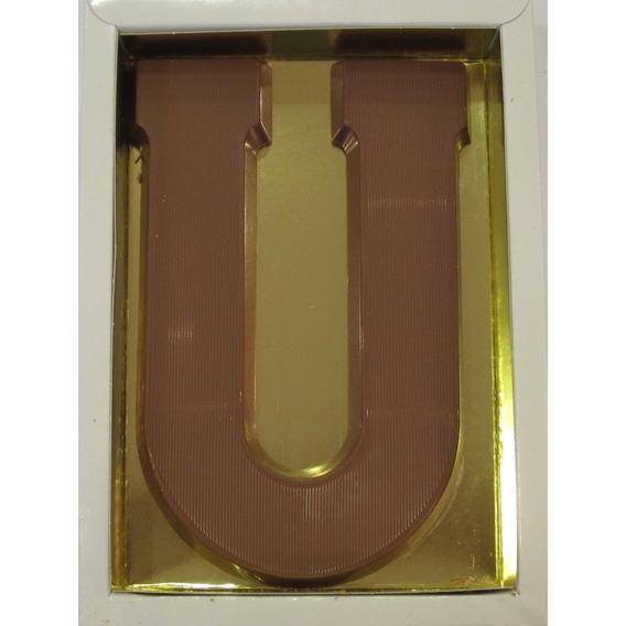 Chocoladeletter U melk 90 gram doos