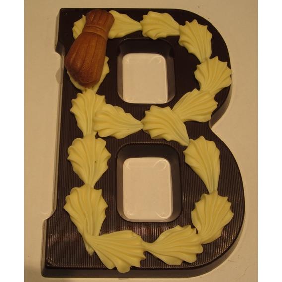 Puurchocolade letter B deco 220 gram
