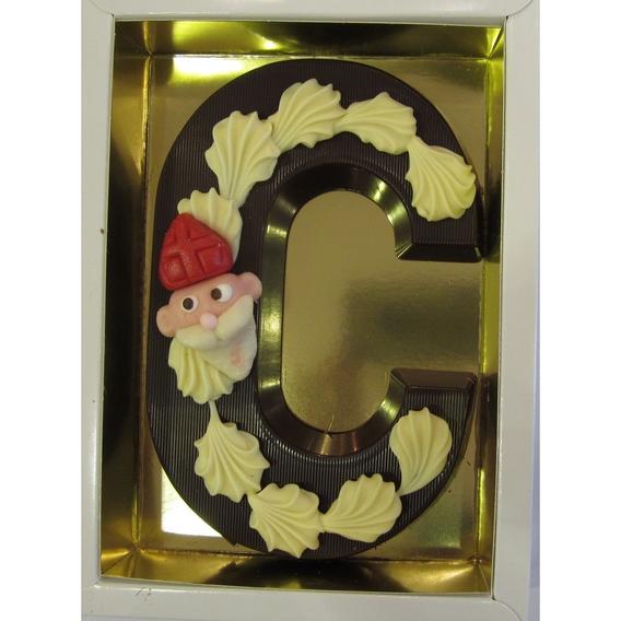 Puurchocolade letter C deco 220 gram