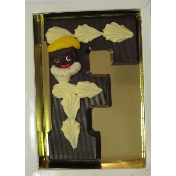 Puurchocolade letter F deco 220 gram