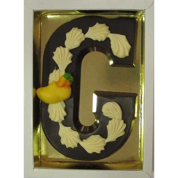Puurchocolade letter G deco 220 gram