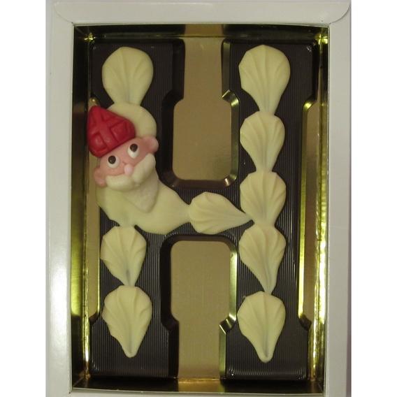 Puurchocolade letter H deco 220 gram