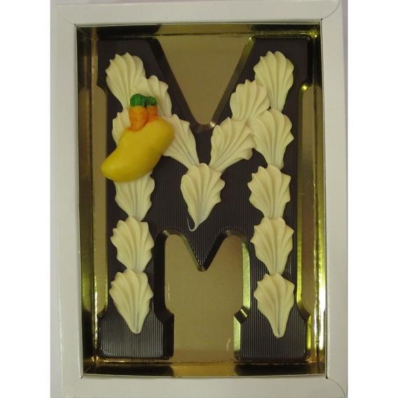 Puurchocolade letter M deco 220 gram