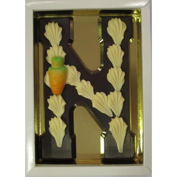 Puurchocolade letter N deco 220 gram