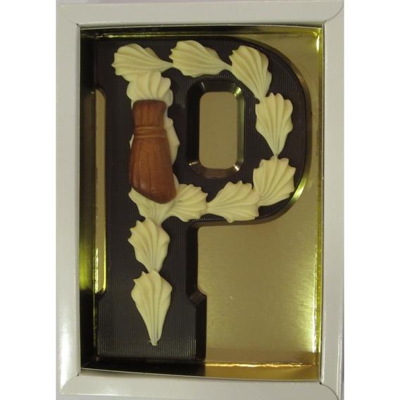 Puurchocolade letter P deco 220 gram