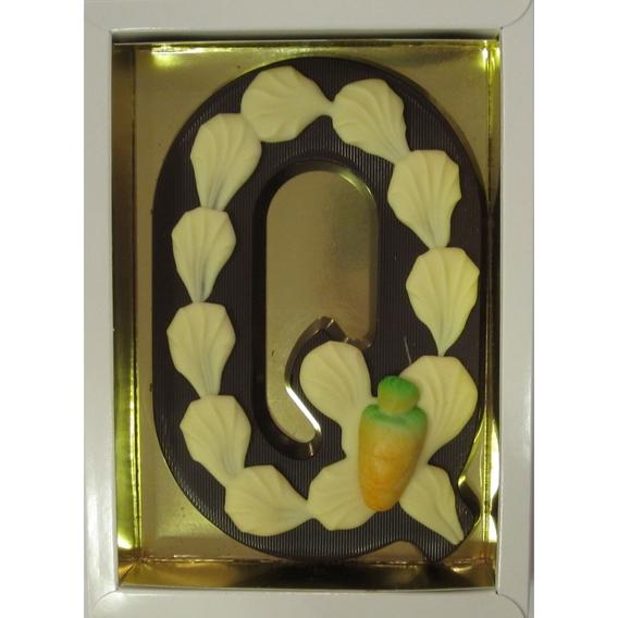Puurchocolade letter Q deco 220 gram