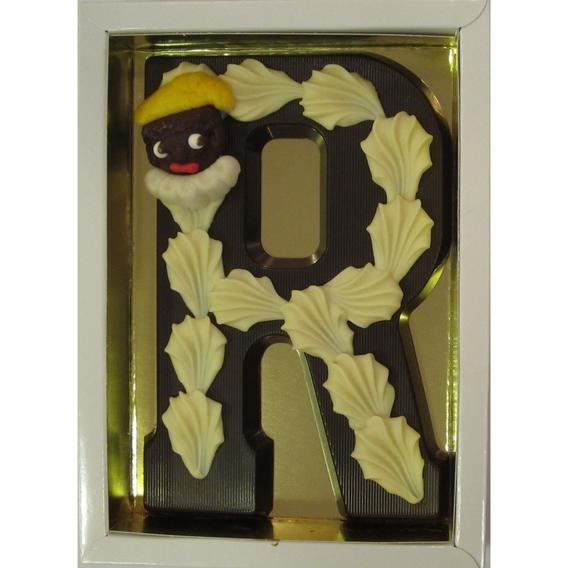Puurchocolade letter R deco 220 gram