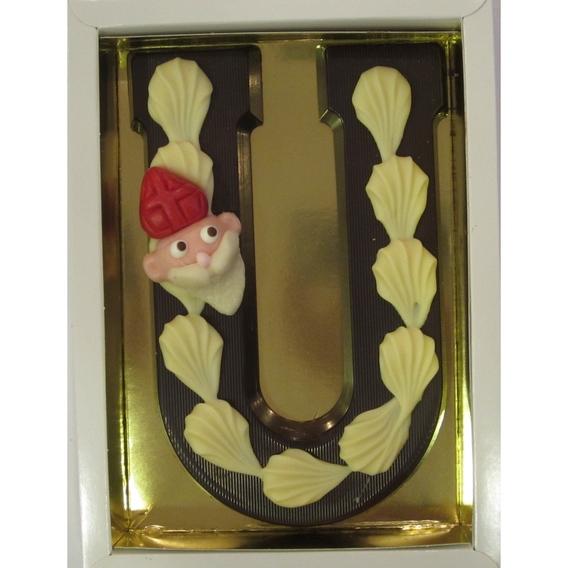 Puurchocolade letter U deco 220 gram