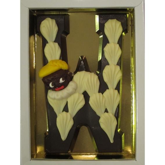 Puurchocolade letter W deco 220 gram