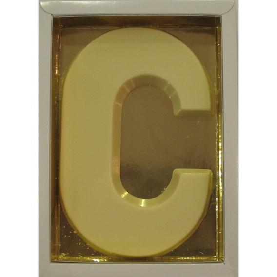 Chocoletter C wit 200 gram