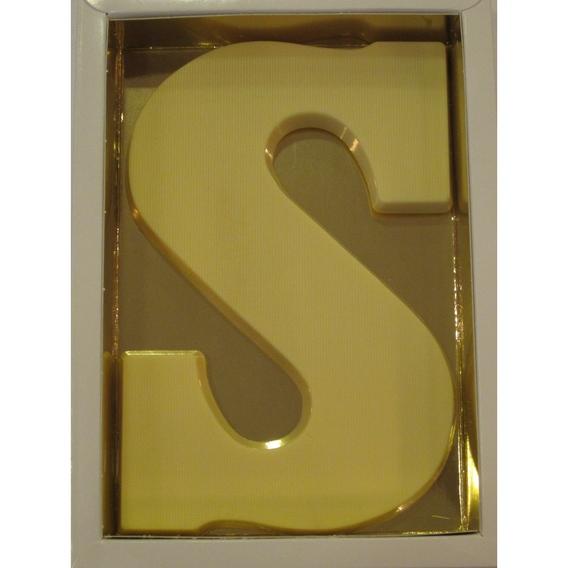 Chocoletter S wit 200 gram