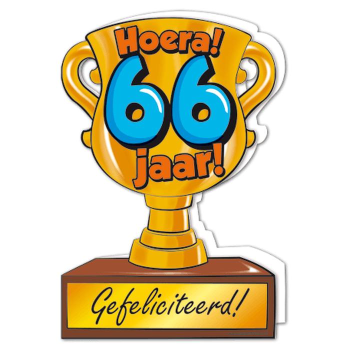 66 jaar Troffeekaart 66 jaar   Topsnoep.nl 66 jaar