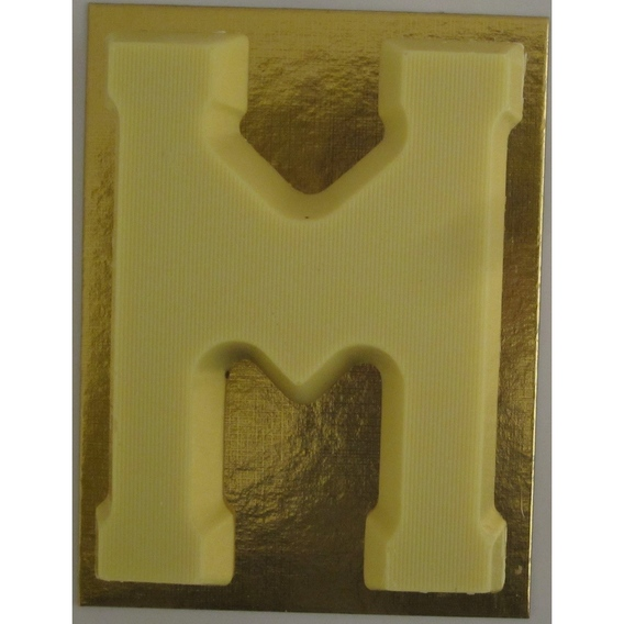 Chocoladeletter wit 90 gram M
