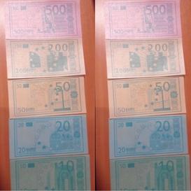 Eetbaar euro biljet