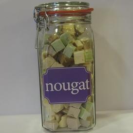 Fles met Nougat snoepjes