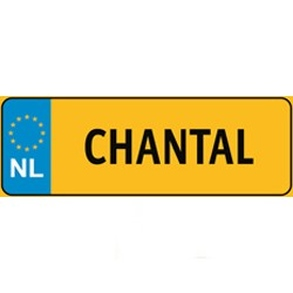 Naamplaatje Chantal