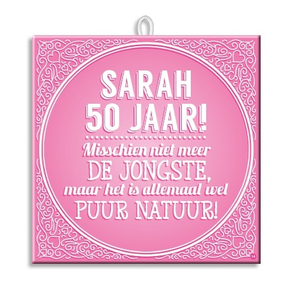 Slogan Tegel Sarah