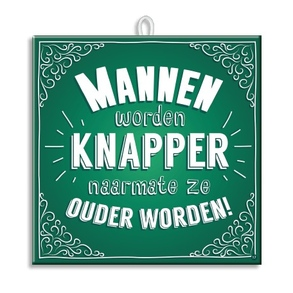 Slogan Tegel Mannen knapper