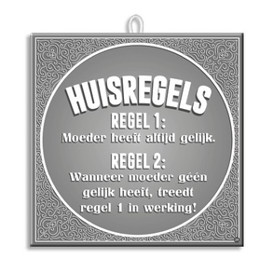 Slogan Tegel Huisregels
