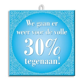 Slogan Tegel Volle 30%