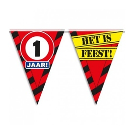 Party vlag 1 jaar