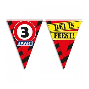 Party vlag 3 jaar