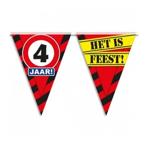 Party vlag 4 jaar