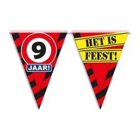 Party vlag 9 jaar