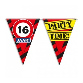 Party vlag 16 jaar