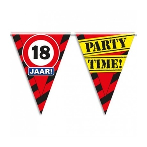 Party vlag 18 jaar