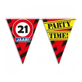 Party vlag 21 jaar
