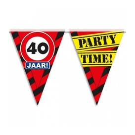 Party vlag 40 jaar