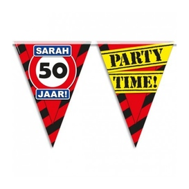 Party vlag 50 jaar Sarah