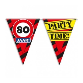 Party vlag 80 jaar