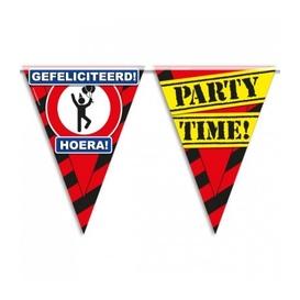 Party vlag Gefeliciteerd